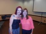 As simpáticas palestrantes Ana Claudia e Rosangela